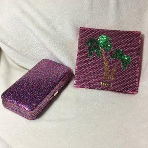 Tarte blush clutch + palm magnetic palette